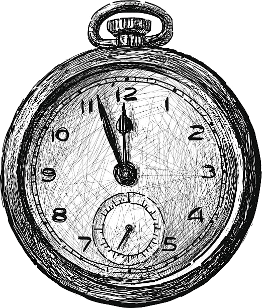 vintage-pocket-watch-vector-id467960345